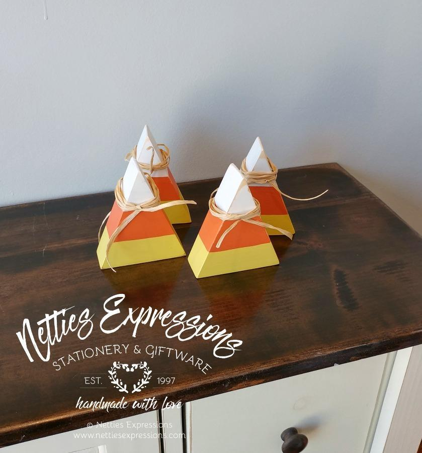 Wooden Candy Corn - Netties Expressions