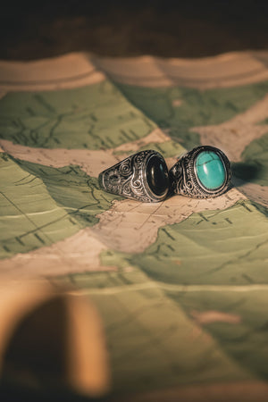 """Mørketid"" rock & vintage ring"