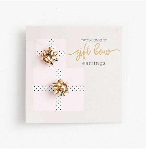 Gift Bow Stud Earrings