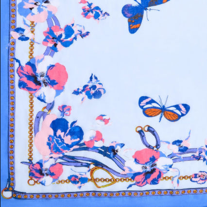 Pattern Play Butterfly and Flower Print Scarf