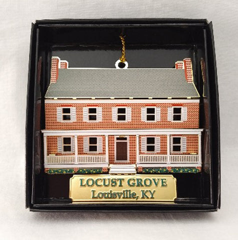 3-D Brass Locust Grove Ornament