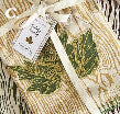 Faux Bois Dish Towel with Oak Leaf Cookie Cutter