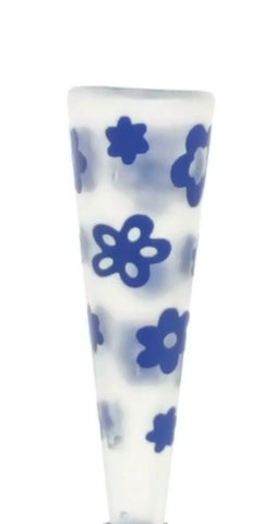 VW Beetle Flower Vase  - Blue Vase European