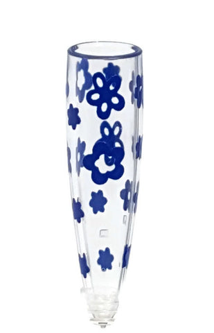 VW Beetle Flower Vase - Blue Vase
