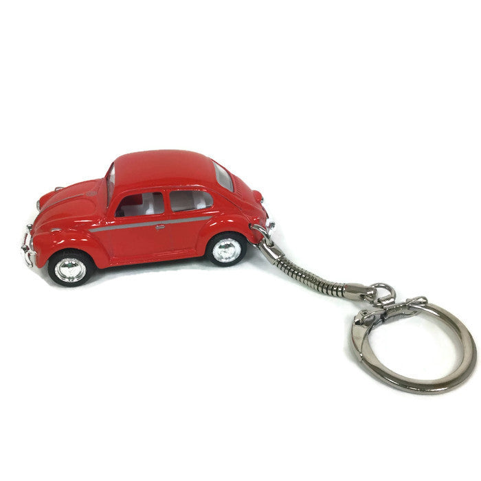 Vintage VW Red Beetle Keychain