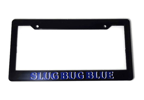 VW Beetle Slug Bug Blue License Plate Frame