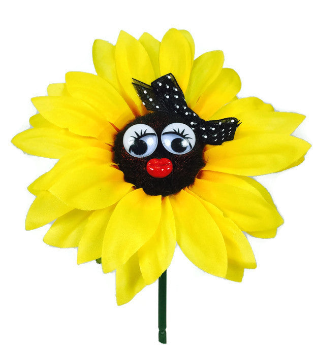 VW Beetle Flower - Sunflower with Black Bow