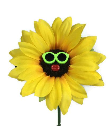 VW Beetle Flower - Sunflower with Green Glasses