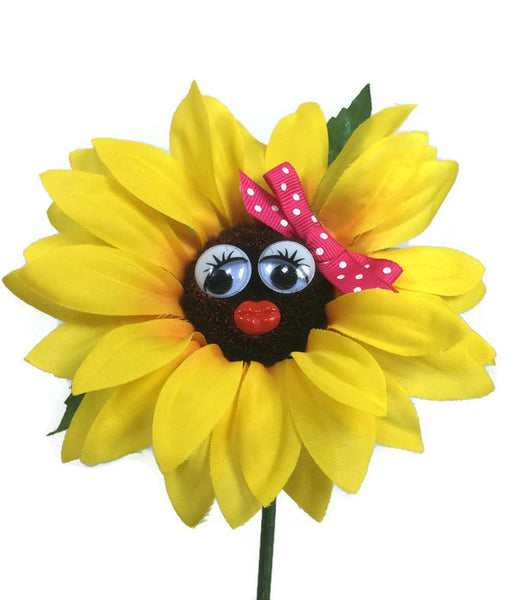 Vw Beetle Flower Sunflower With Pink Bow Bling My Bug