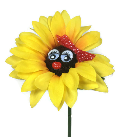 VW Beetle Flower - Sunflower with Red Bow