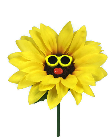 VW Beetle Flower - Sunflower with Yellow Glasses