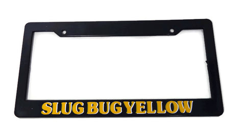 VW Beetle Slug Bug Yellow License Plate Frame