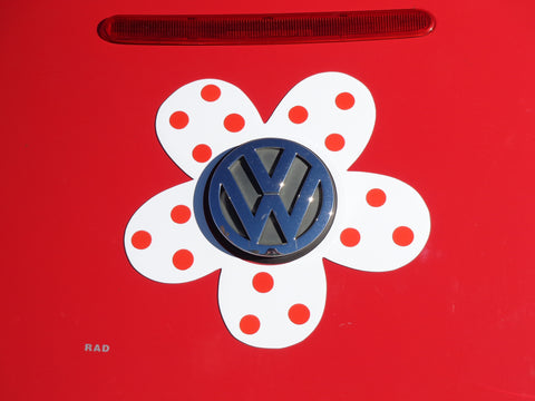 Magnetic Decal Flower - Red Polka Dots