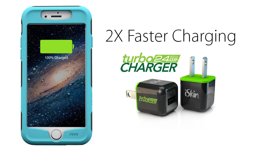 TurboCharger charges your iPhone twice as fast!