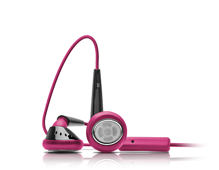 EarTones Earphones (Pink-Black)