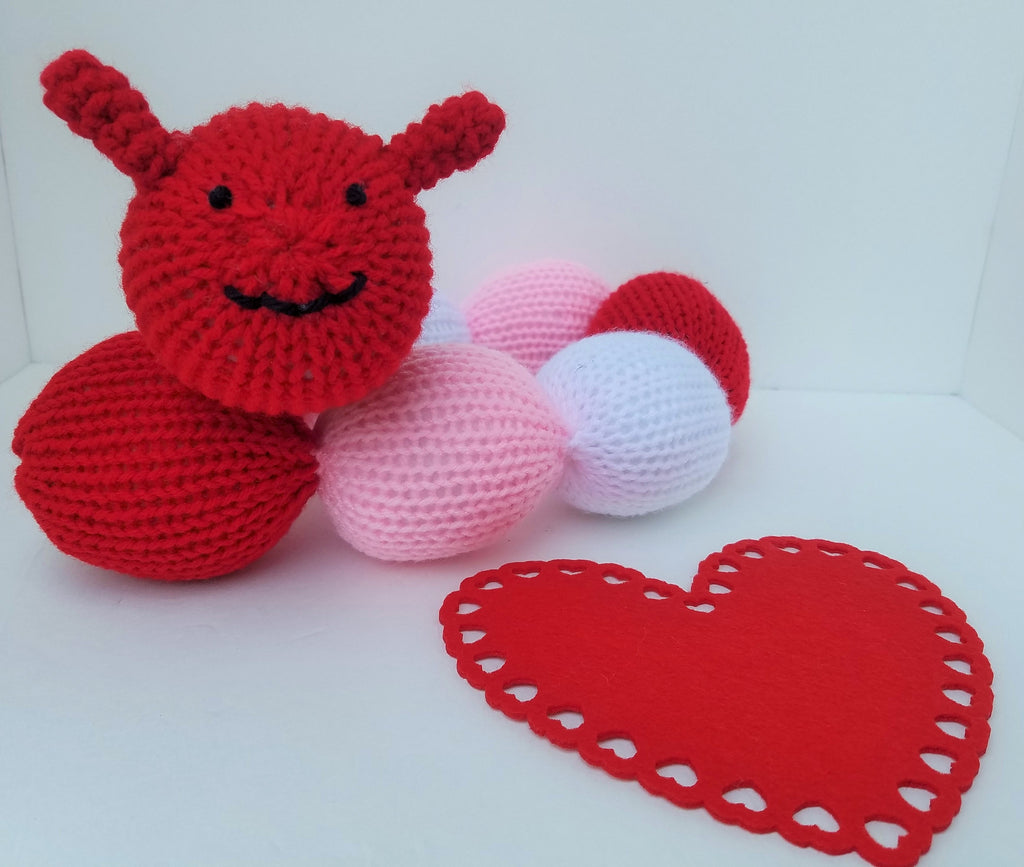 Valentine's Day Caterpillar Rattle