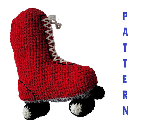 Roller Skate Pillow Crochet Pattern