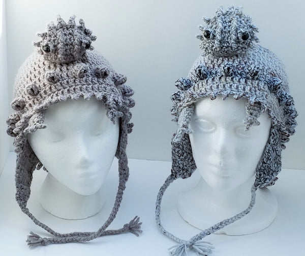 Horny Toad Hat (Texas Horned Toad) Crochet Pattern
