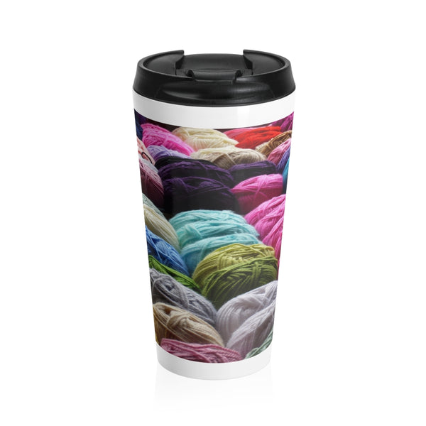 Yarn Porn Stainless Steel Travel Mug
