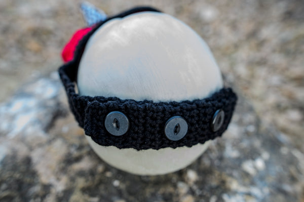 Electric Waves Plague Mask Crochet Pattern for Halloween