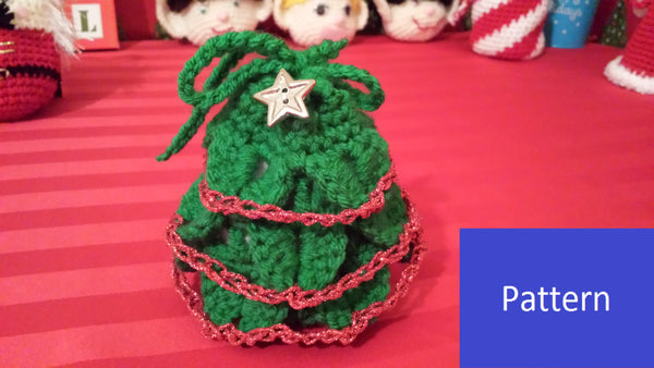 Christmas Tree Goody Bag Crochet Pattern in PDF Format