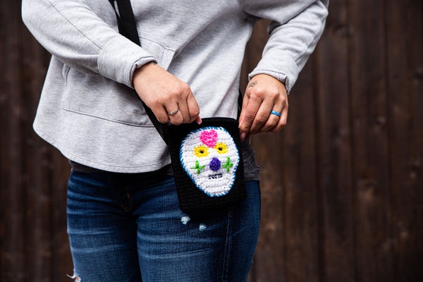Sugar Skull Purses Crochet Pattern