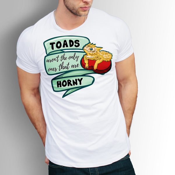 "Horny Toad Short-Sleeve Unisex T-Shirt, ""Toads aren't the only ones that are Horny"""