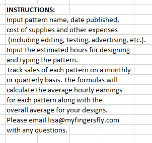 Pattern Profit Tracking Excel Spreadsheet