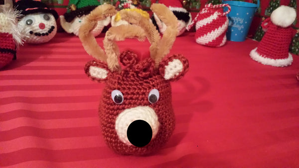 Reindeer Goody Bag Crochet Pattern in PDF Format