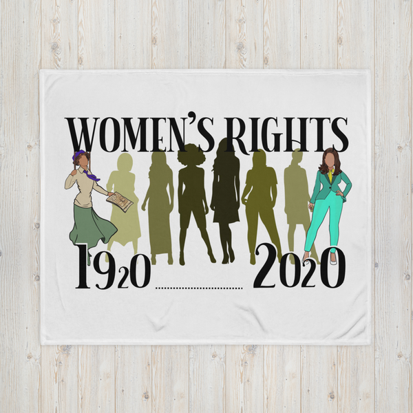 History of Women's Rights Throw Blanket