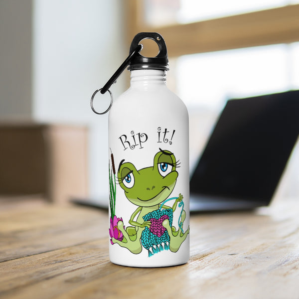 Rip It! Frog Stainless Steel Water Bottle