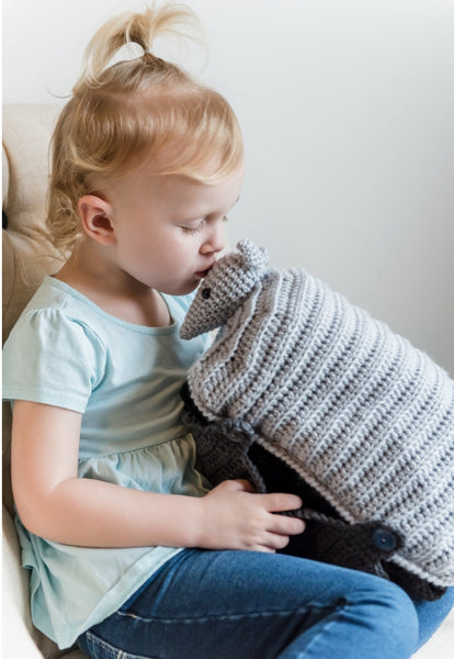 Armadillo Nap Buddy Crochet Pattern - Armadillo Toddler Blanket Crochet Pattern