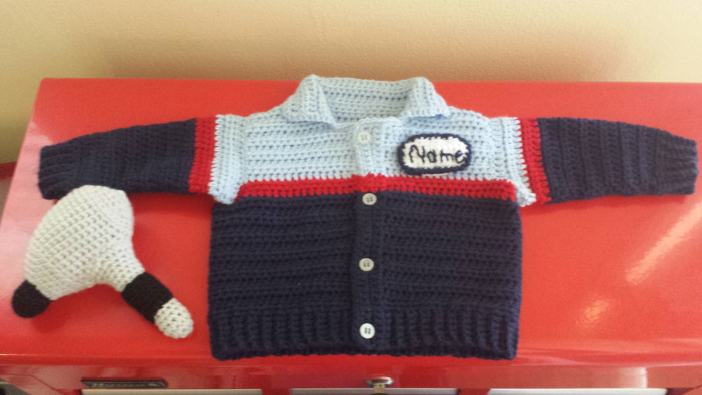 Auto Mechanic Baby Sweater Crochet Pattern Take Baby To Work Day