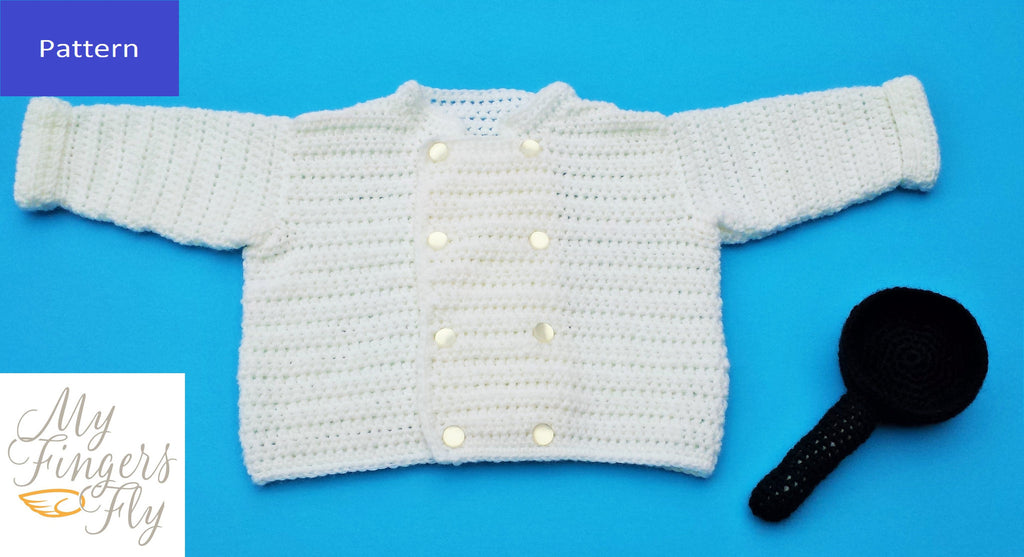Baby Chef Sweater Crochet Pattern My Fingers Fly