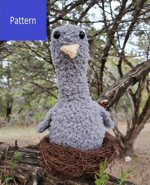 Baby Eagle Plushie Crochet Pattern