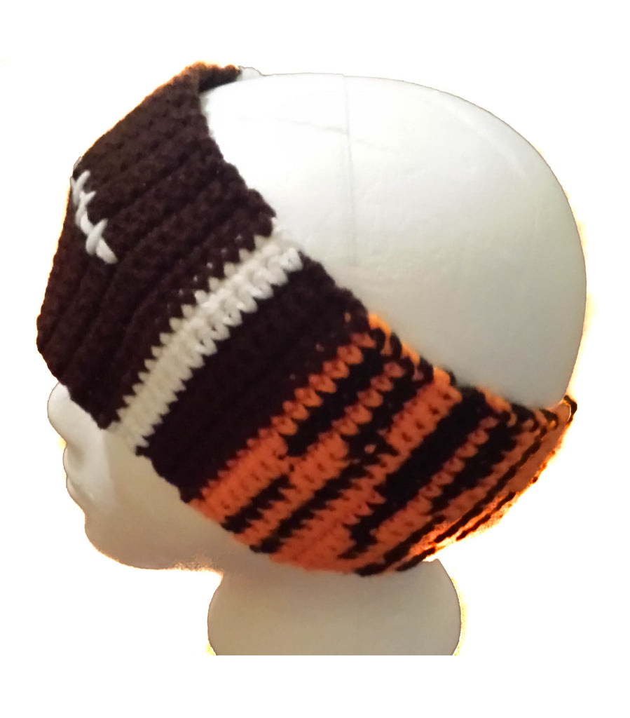 Tiger Football Earwarmer Crochet Pattern - FREE PATTERN