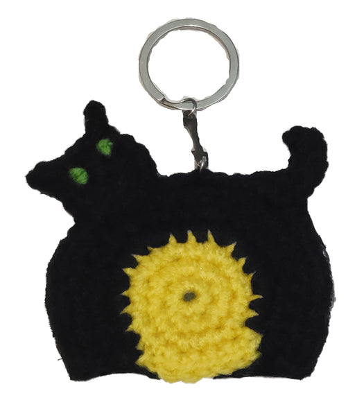 Black Cat Jewelry & Keychain Crochet Pattern