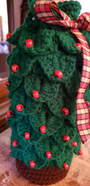 Christmas Tree Wine Gift Bag Crochet Pattern My Fingers Fly