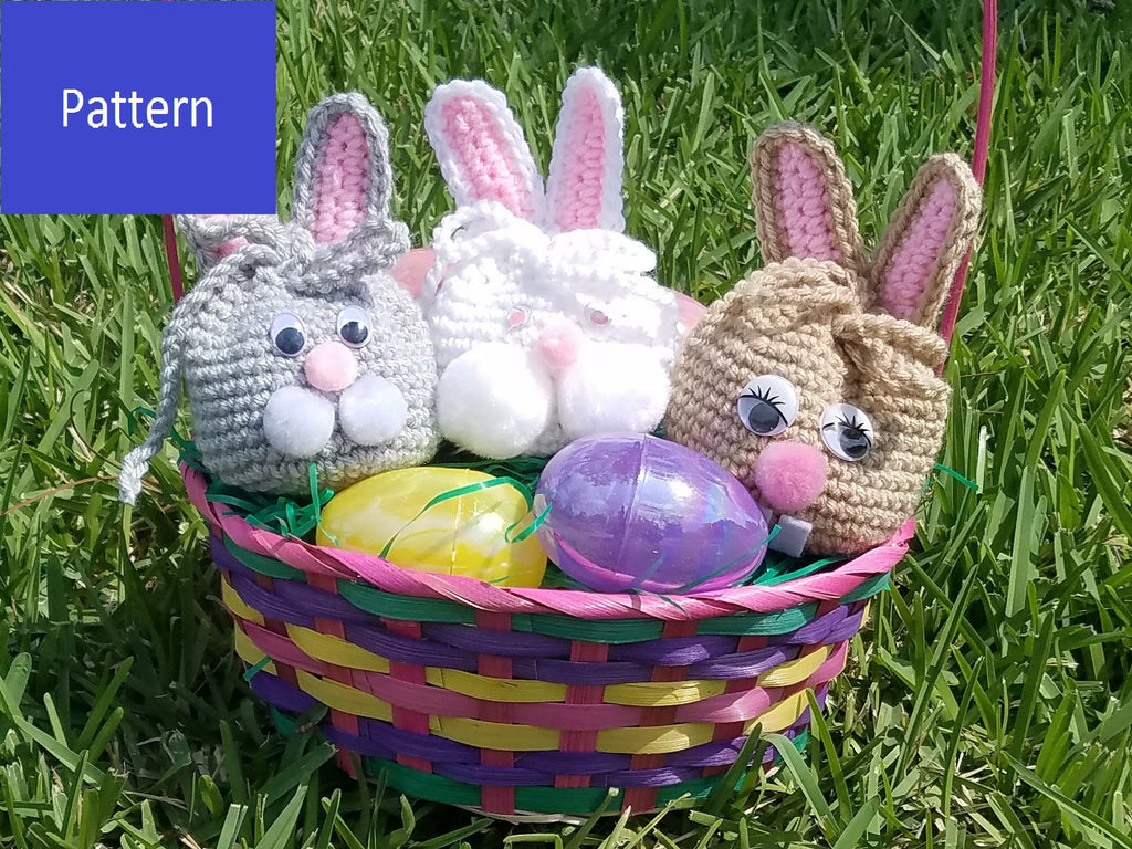 Easter Bunny Goody Bag Crochet Pattern