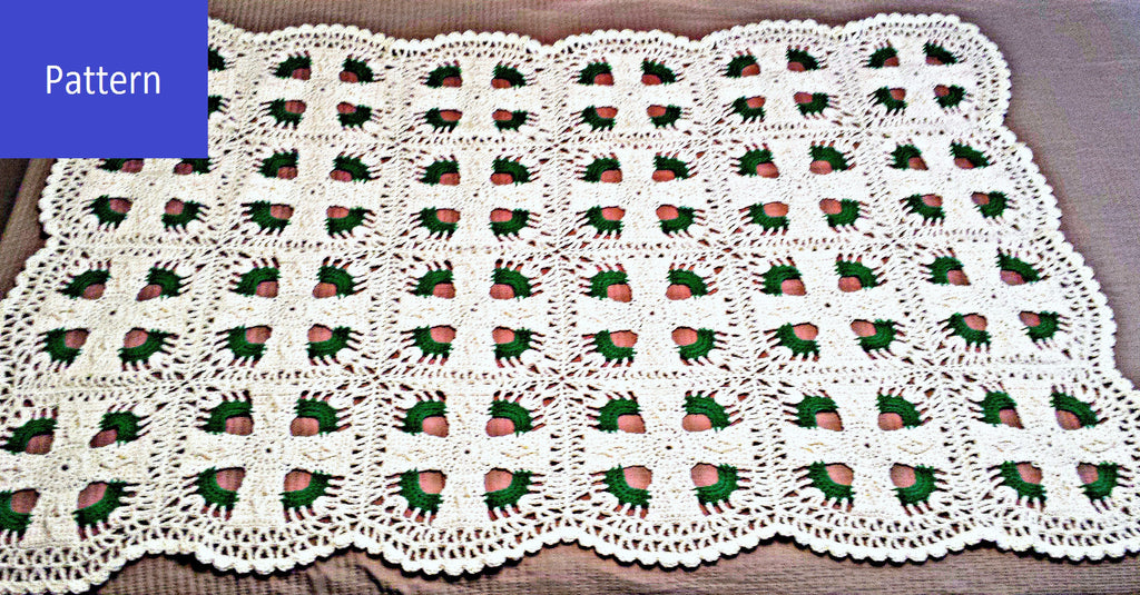 Celtic Cross Afghan Crochet Kit