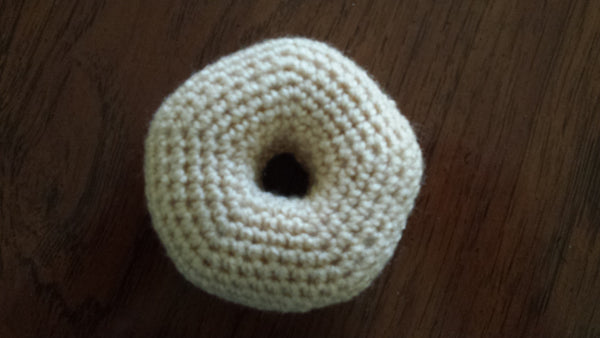 Crochet Kit for Baby Police Uniform Sweater plus Donut-shaped rattle - size NB to 3 mth, 3-6 mth, or 9-12 mth