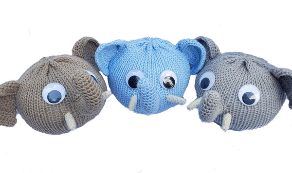 Elephant Eyeglass Holder - Handmade with Polyester Yarn