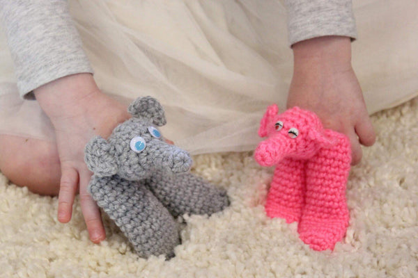 Elephant Finger Puppet Crochet Pattern