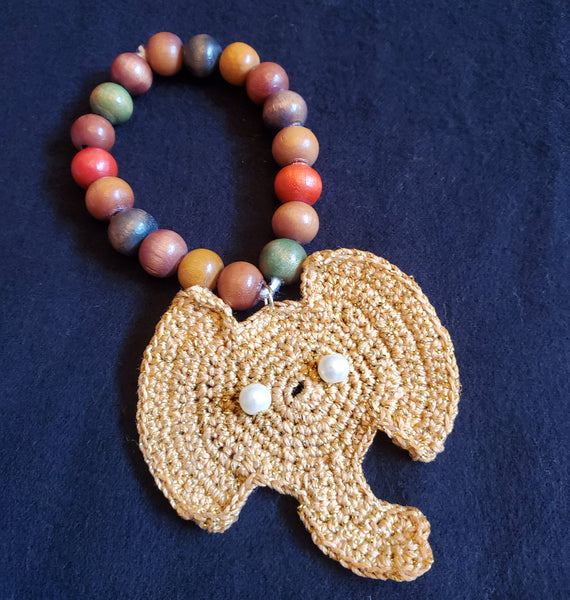 Elephant Coaster Crochet Pattern with Bonus Elephant Ornaments, Earrings, Necklace, Bracelet, Applique Patterns