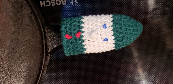 Christmas Panhandlers Crochet Patterns - Elf, Candy Cane, Santa Claus, & Snowman
