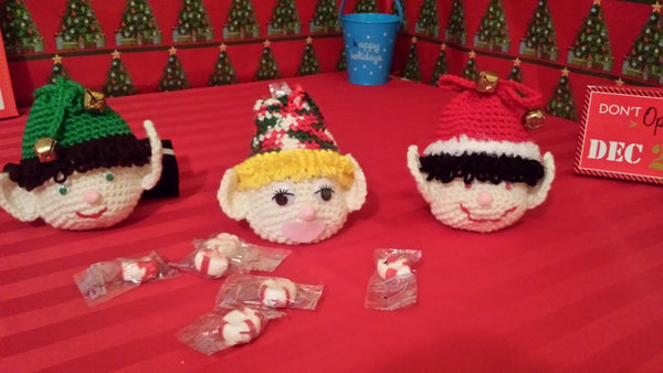 Christmas Elf Goody Bag Crochet Pattern in PDF Format