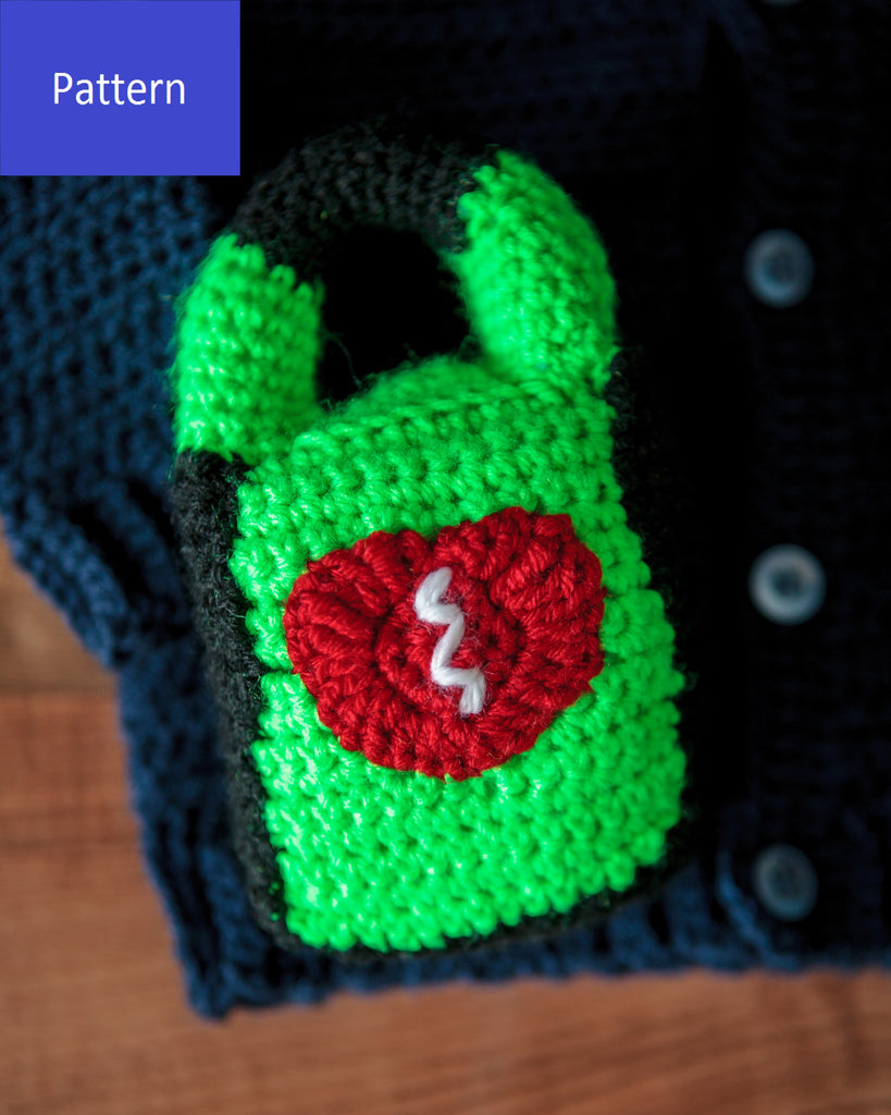 EMT/Paramedic Baby AED Rattle Crochet Pattern