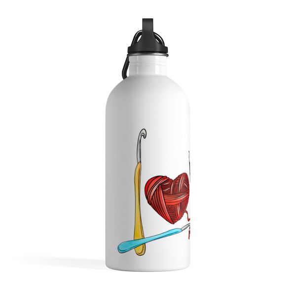Love Crochet Stainless Steel Water Bottle