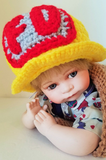 Newborn Baby Firefighter Cocoon and Matching Firefighter Hat, Handmade