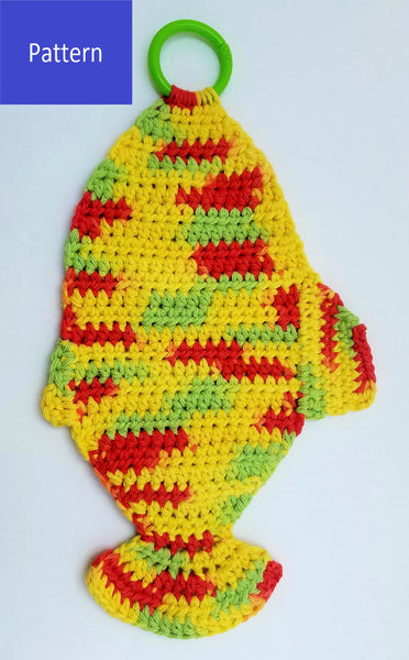 Fish Dish Towel Crochet Pattern